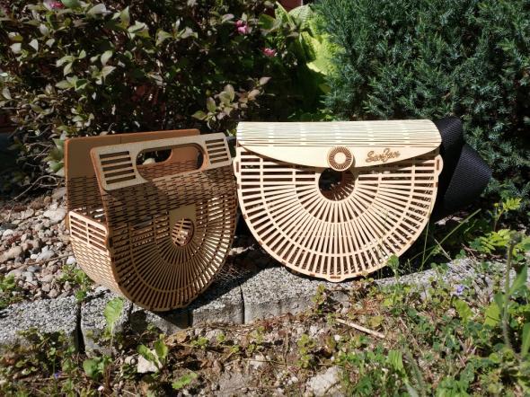 Drewniana torebka letnia...