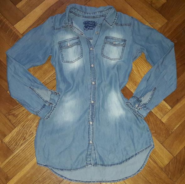 Koszula jeans jeansowa tunika Komex 158cm S