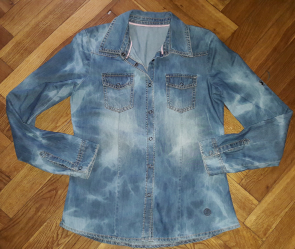 Koszula jeans jeansowa SM