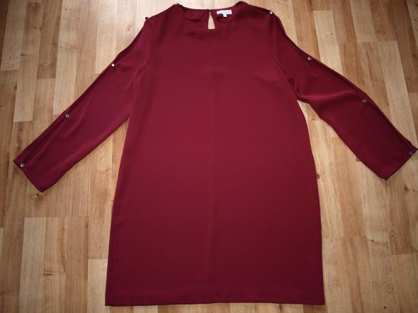 Bordowa sukienka 42 44
