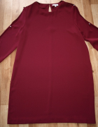 Bordowa sukienka 42 44...