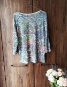 Cienka bluzka w kolorowe wzory L...