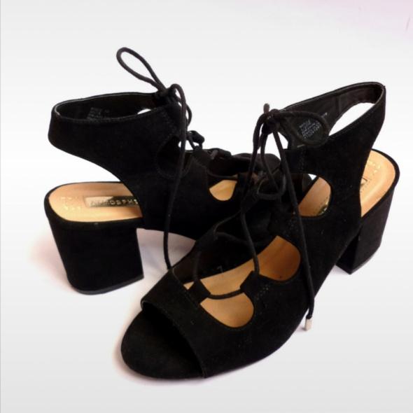 Sandałki wiązane klasyka hot blog ala ZARA Mohito eleganckie jak nowe