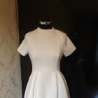 Biała rozkloszowana sukienka odkryte plecy 34 XS