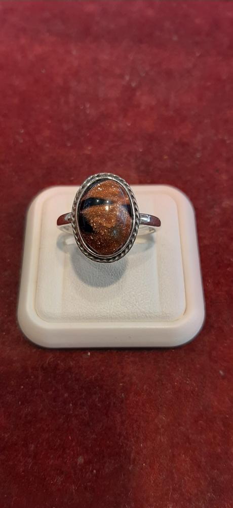 Pierścionek srebrny piasek pustyni 925