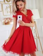 sukienka koronkowa CZERWONA 34 36 38 40 42 44 46 kolory...