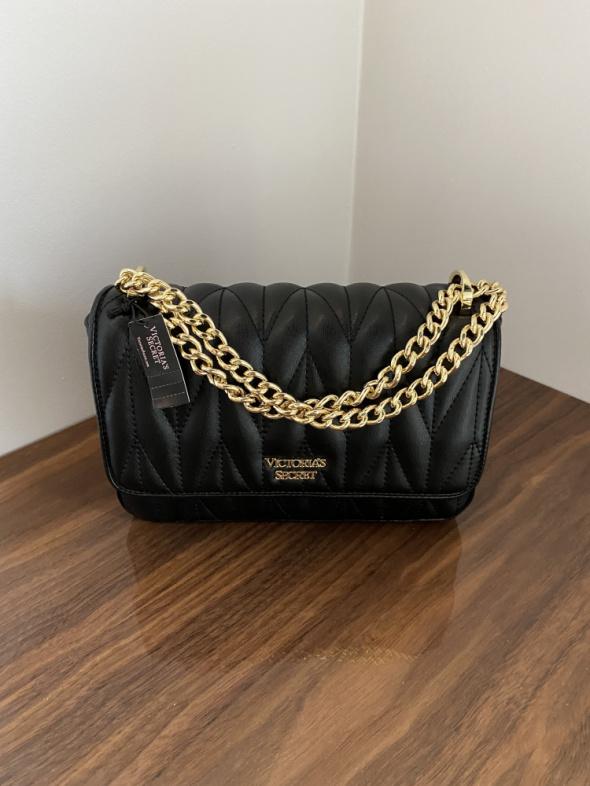 Torba Victorias Secret czarna pikowana na ramię torebka VS...
