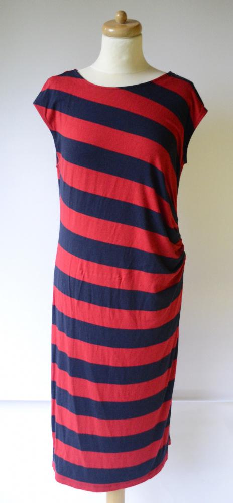 Sukienka Pasy Paski Lindex L 40 Long Dłuższa Paseczki