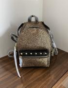 Plecak Victoria Secret VS czarny złoty backpack mały plecaczek