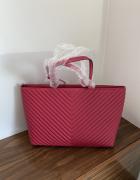 Torba Victoria Secret różowa na ramię torebka VS ciemny róż