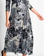 Długa szara sukienka w stylu Boho maxi...