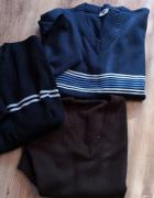 Sweter męski bezrękawnik XL XXL zestaw 3 szt