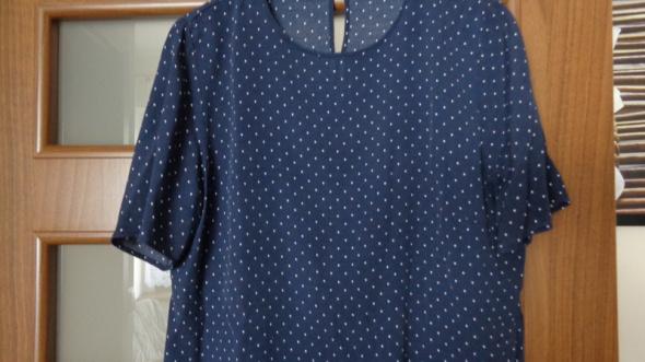 Granatowa bluzka w kropeczki H&M