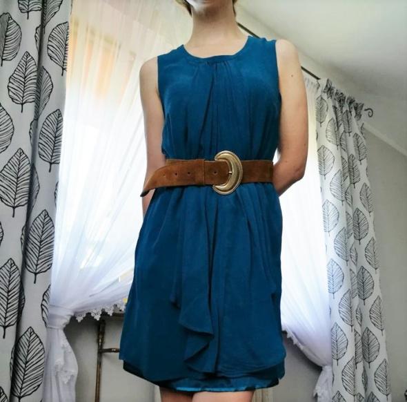 Jedwabna szmaragdowa sukienka Solar