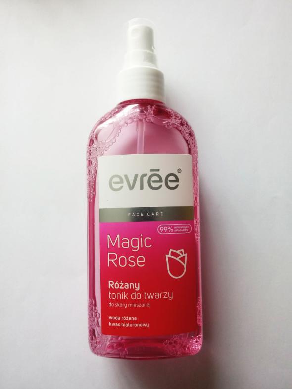 Różany tonik do twarzy Evree skóra mieszana