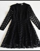Koronkowa sukienka mała czarna rozmiar 38 M...
