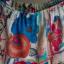 Spódnica w kwiaty z maseczką i opaską na głowę w komplecie