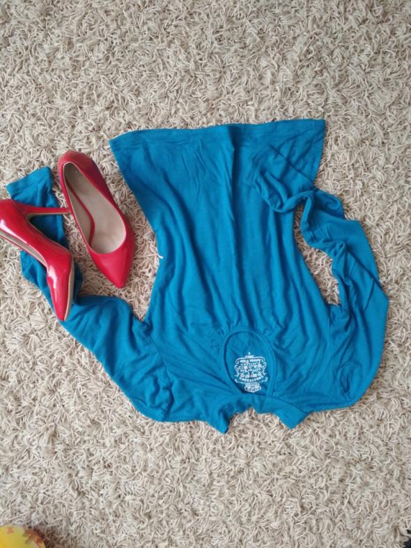 Bluzki niebieska wiązana s m
