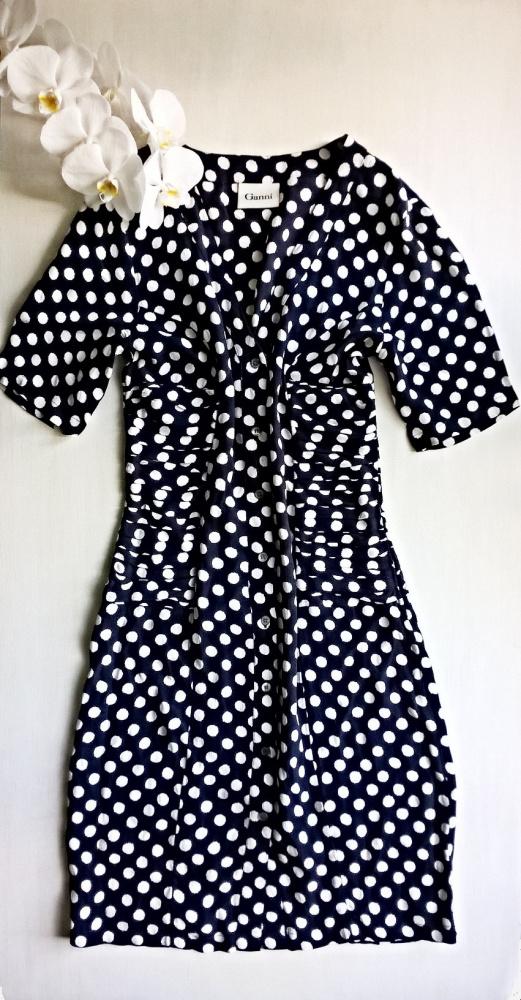 Sukienka w grochy vintage XS S M