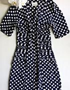 Sukienka w grochy vintage XS S M...