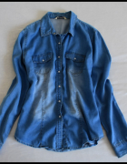 Jeansowa koszula damska super stan rozmiar 40 L...
