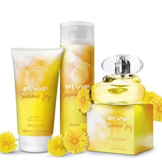 Zestawy Elvie Summer Joy perfum balsam żel zestaw Oriflame