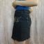 Mini jeansowa czarna grafitowa handmade diy ćwieki koraliki XS S 34 36