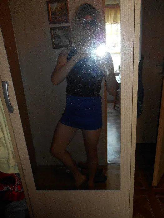 Sexy Niebieska mini spódniczka S...