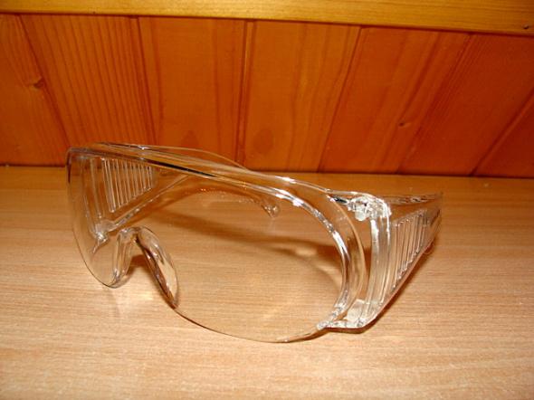 Nowe duze przezroczyste ochronne okulary do pracy Sitesafe bezbarwne