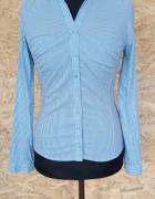 Niebieska elegancka koszula w paski i kropki Orsay 38...