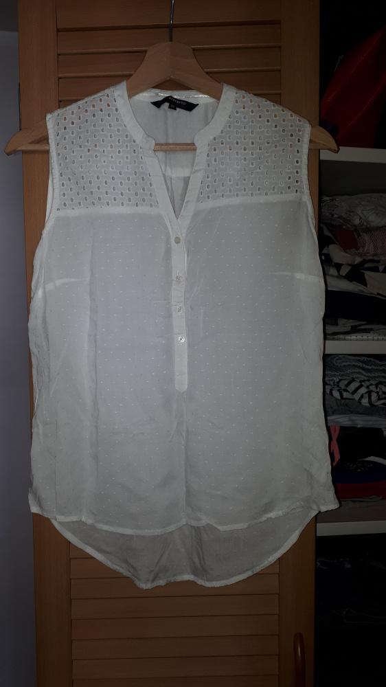 Bluzki Biała bluzeczka Reserved