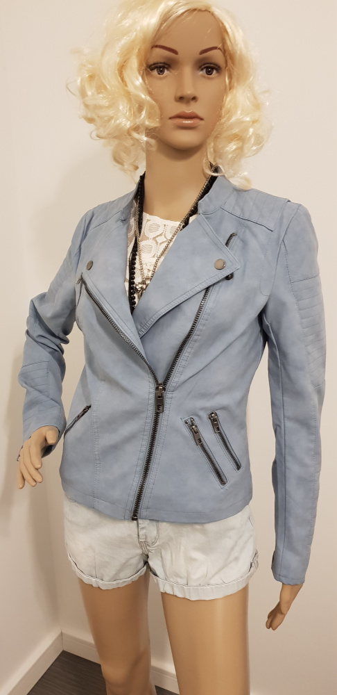 Nowa niebieska kurtka ramoneska marki Only...