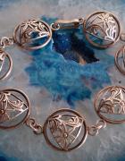 Stara srebrna bransoletka Warmet szarotki