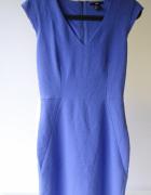Sukienka Kobaltowa H&M 34 Ołówkowa Do Pracy...