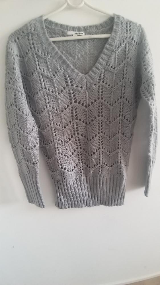 szary Ażurowy sweterek Tally Weijl S...