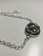 Nowa Bransoletka z kamieniem w kolorze srebra