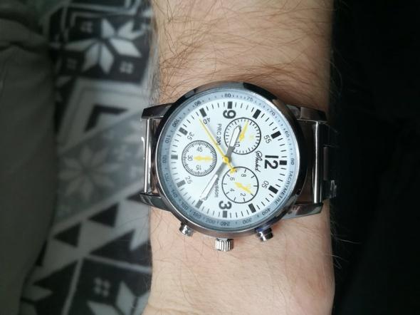 Nowy Męski srebrny zegarek