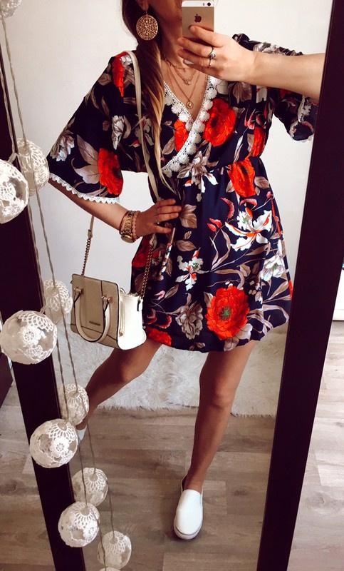 Sukienka Damska w kwiatki M L