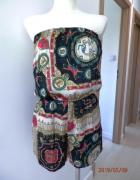 Kombinezon Krótki Plażowy Apaszkowy Nadruk w stylu Versace by U...