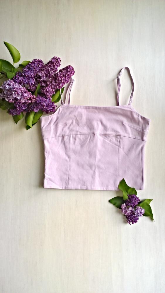 Bluzeczka top lila XS S