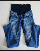 H&M Mama spodnie ciążowe jeansowe 38 M...