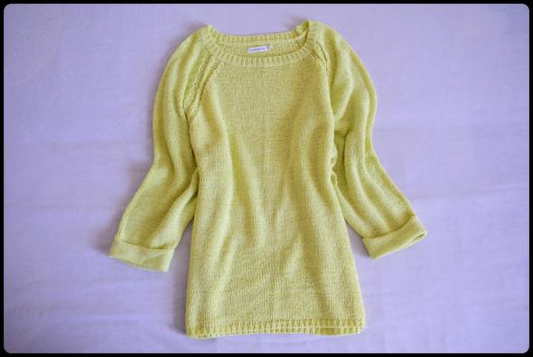 Żółty sweter Reserved Basic rozmiar 40 L