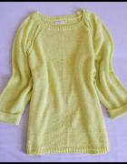 Żółty sweter Reserved Basic rozmiar 40 L...