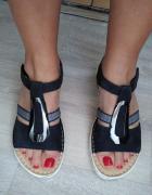 Sandałki skórzane Ara Skóra naturalna Licowa