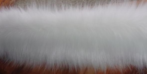 Futrzane Obszycie Sztuczne Futro Biały Lis