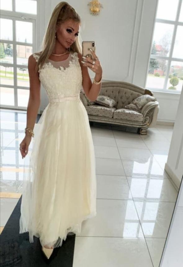 Suknia Angela kremowa M