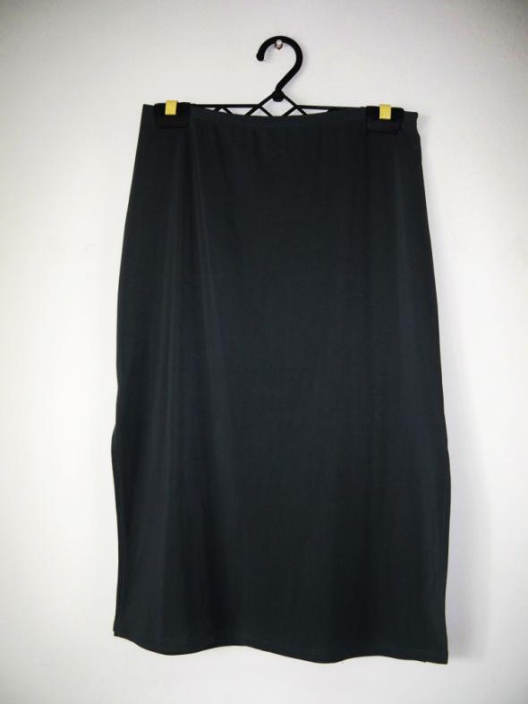 Szara spódnica midi prążkowany materiał vintage retro elegancka...