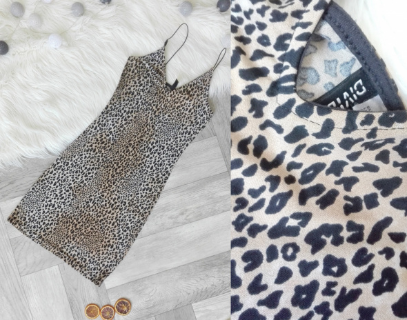Sukienka MINI panterka H&M