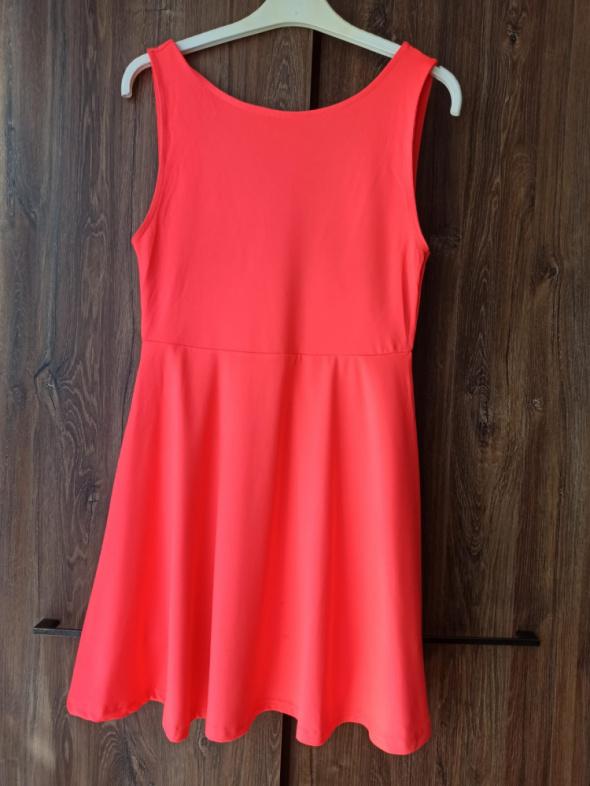 Sukienka neonowa H&M rozmiar m