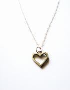 NOWY srebrny naszyjnik z serce rock lolita pastel goth wisiorek...